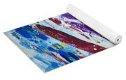 Green Pastures And Purple Mountains Yoga Mat