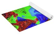 Green Red And Blue Melody Panel Abstract Yoga Mat