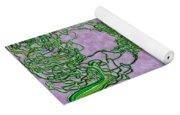 Green Ribbon Shamrock Yoga Mat
