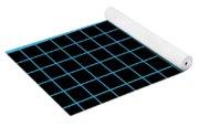 Grid Boxes In Black 18-p0171 Yoga Mat