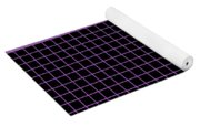 Grid Boxes In Black 30-p0171 Yoga Mat