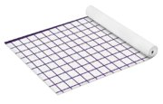 Grid Boxes In White 30-p0171 Yoga Mat