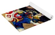 Halak Catches The Puck Stanley Cup Playoffs 2010 Yoga Mat