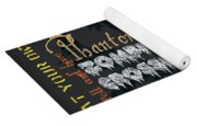 Happy Haunting Typography Yoga Mat