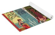 Harem Vintage Fruit Packing Crate Label C. 1920 Yoga Mat