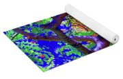 Hawaii Shower Tree Flowers In Abstract Yoga Mat