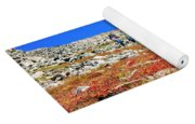 Hikers And Autumn Tundra On Mount Yale Colorado Yoga Mat