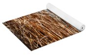 Hoar Frost On Reeds Yoga Mat