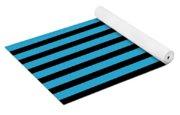 Horizontal Black Inside Stripes 18-p0169 Yoga Mat