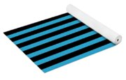 Horizontal Black Outside Stripes 18-p0169 Yoga Mat