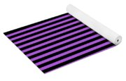 Horizontal Black Outside Stripes 30-p0169 Yoga Mat