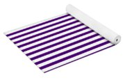 Horizontal White Outside Stripes 30-p0169 Yoga Mat