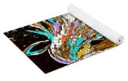 Horse Abstract Brown And Blue Yoga Mat