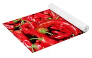 Hot Red Peppers In The Summer Sun Yoga Mat