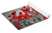 Idyllic Field Of Poppies Colorkey Yoga Mat