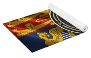 Imperial Tudor Crown Over Royal Standard Of The United Kingdom Yoga Mat