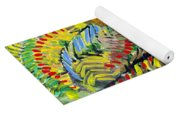 Birds In The Forest Yoga Mat