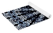 Indigo Flow Blue Kaleidoscope Yoga Mat