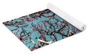Infrared Frangipani Tree Yoga Mat