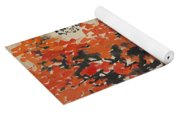 Ink Painting A Tree Gules Persimmon Girl Yoga Mat