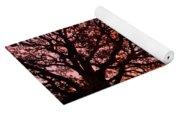 Intense Sunset Tree Silhouette Yoga Mat