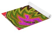 Janca Pink Color Panel Abstract #5212 Wtw6 Yoga Mat