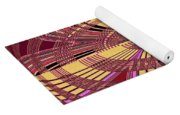 Janca Red And Yellow Abstract  Yoga Mat