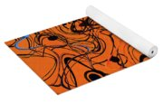 Janca Red Power Tower Abstract Yoga Mat