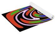 Jancart Drawing Abstract #8455wspc Yoga Mat