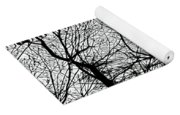 January Beauty 2 Black And White  Yoga Mat