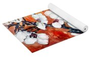 Japanese Cherry Blossom Abstract Flowers Yoga Mat