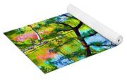 Japanese Garden In Spring Yoga Mat