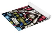 Jesus Christ Crucifixtion Stained Glass Yoga Mat