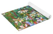 Jumbled Up Wildflowers Yoga Mat