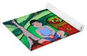 Kids Playing And Picking Apples Yoga Mat