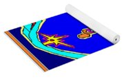 Lady Over A Valley In Paradise Yoga Mat