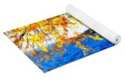 Lake Coeur D'alene Through Golden Leaves Yoga Mat