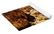 Land Of Sandstones Valley Of Fire Yoga Mat