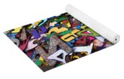 Letters And Numbers Yoga Mat