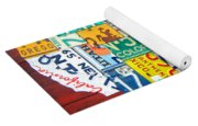 License Plate Map Of The United States - Midsize Yoga Mat
