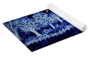 Lights On The Farm's Pond At Night Yoga Mat