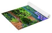 Lilac And Teal Garden Yoga Mat