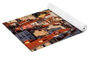 Lisbon Cityscape In Portugal At Sunset Yoga Mat