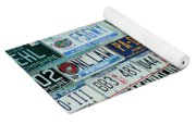 Lost In Plates Yoga Mat