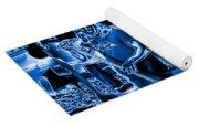 Ls #40 Enhanced In Blue Yoga Mat