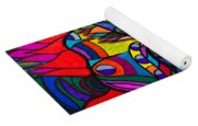 Magdalena On Fire - Mask - Abstract Face Yoga Mat