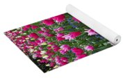 Magenta And White Tulips Yoga Mat