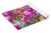 Magenta Floral Pattern Yoga Mat