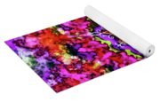 Mandala Floral Red Purple Yoga Mat