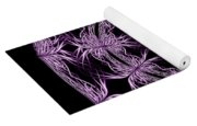 Mandala Purple And Black Yoga Mat